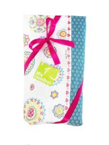 Geschenkset Küchentuch mit Bio-brotbackmischung Happy Hearts