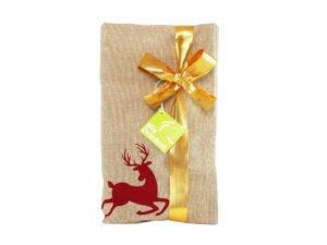 Weihnachtsgeschenkidee - Geschenkset Geschirrtuch mit Bio-Brotbackmischung